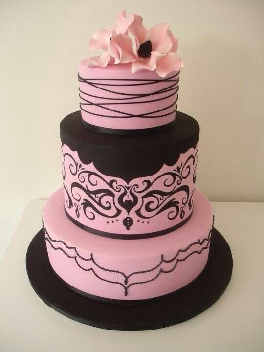 pink white and black wedding cakes discover and save creative ideas 18598