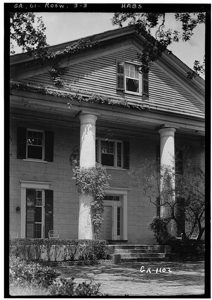 Mimosa Hall, Roswell, Fulton County, GA. Historic American Buildings Survey photo-1936.