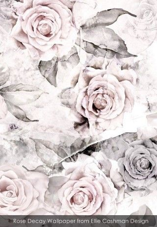 Rose Decay Wallpaper from Ellie Cashman Design - An Interview with Philippa Jeffrey