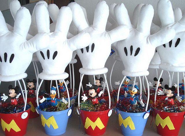 mesa mickey | Enfeites de Mesa do Mickey - Circo e Infantil | Decorando Imóveis