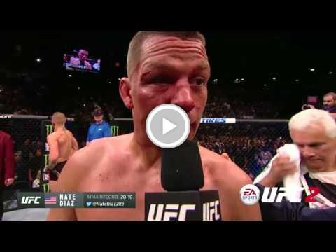 Free   Video - UFC 196: Nate Diaz and Conor McGregor Octagon Interview