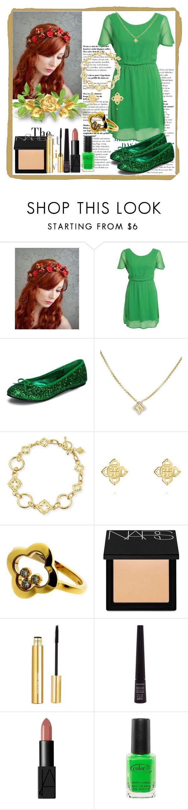 """""""St. Patric's Day Outfit"""" by deedee-pekarik ❤ liked on Polyvore featuring Rut&Circle, David Yurman, Armenta, Tory Burch, Chopard, NARS Cosmetics, Isaac Mizrahi and Color Club"""