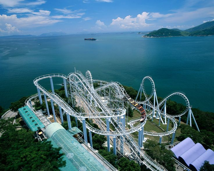 Ocean Park Rollercoasters with a View! Hong Kong Travel - Hong Kong Tourist Attractions and Cityscapes
