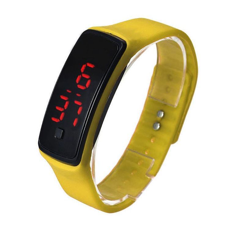 Mance 9 Colors Fashion Men Candy Silicone Strap Touch Square Dial Digital Bracelet LED Sport Wrist Watch Women Watches