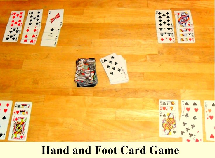 Hand and card foot game rules and variations