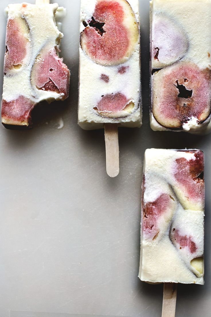 Figs & Ricotta Cheesecake Popsicle Recipe