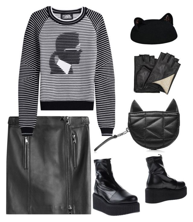 Untitled #3 by sahel7 on Polyvore featuring polyvore, fashion, style, Karl Lagerfeld and clothing
