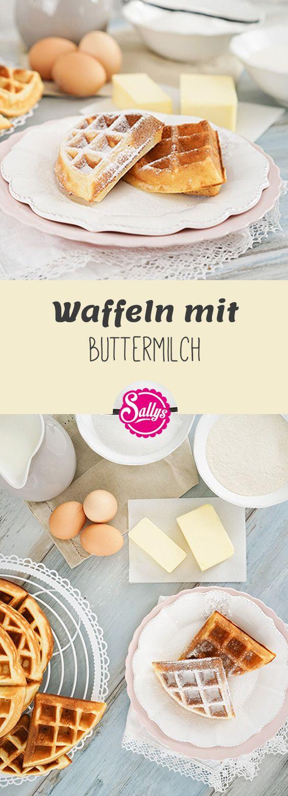 Hier ein Grundrezept für leckere Waffeln mit Buttermilch!