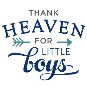 Silhouette Design Store: thank heaven little boys phrase