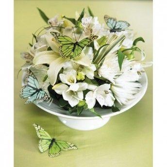 Per aggiungere un tocco di fascino alle composizioni ... farfalle decorative azzurro acqua