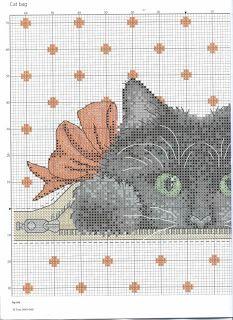 Kitten cross stitch (half).