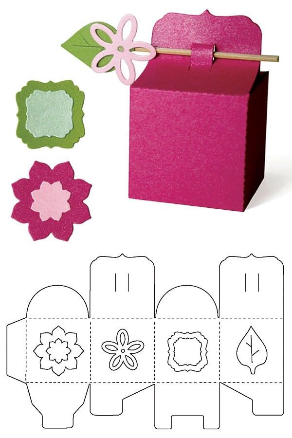 Clever closure and decoration for gift box all-in-one with different shape windows....DIY 3D....