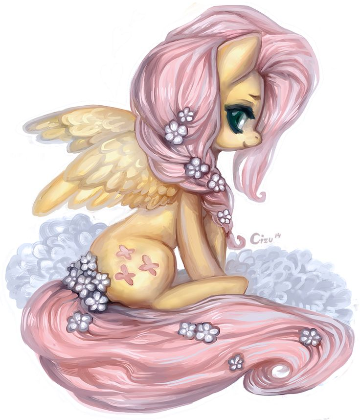"My Little Pony: Friendship is Magic // Fluttershy - ""I cant believe that people can draw so well. This is so pretty."""