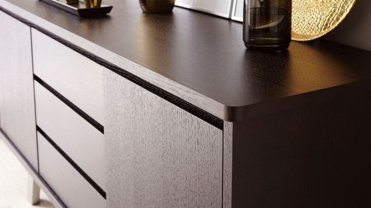 The Assi Wenge Dark Wood Sideboard from Danetti will instantly add a a rich, opulent and designer feel to your home.