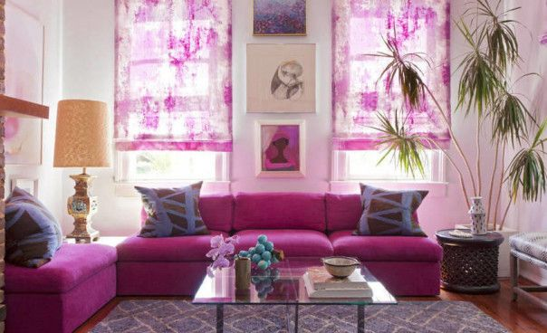 25 best Living room interiors images on Pinterest | Pink living ...