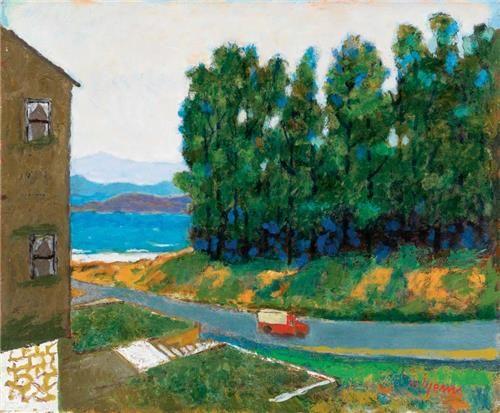 Nuri İyem 38.00 x 46.00 cm. 1993 Duralit üzerine yağlıboya