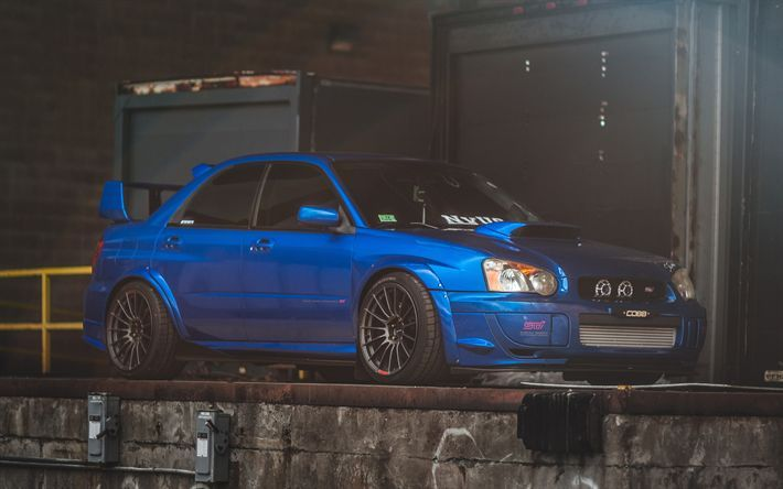 Download Wallpapers Subaru Impreza Wrx Sti 4k Stance Blue Impreza Tuning Japanese Cars Subaru Impreza Wrx Subaru Wrx