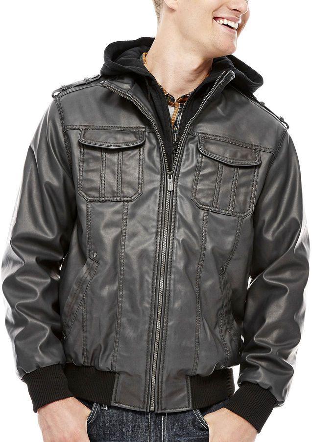 i jeans by Buffalo Faux-Leather Bomber Jacket