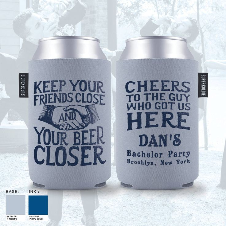 Bachelor party favors personalized can coolers custom
