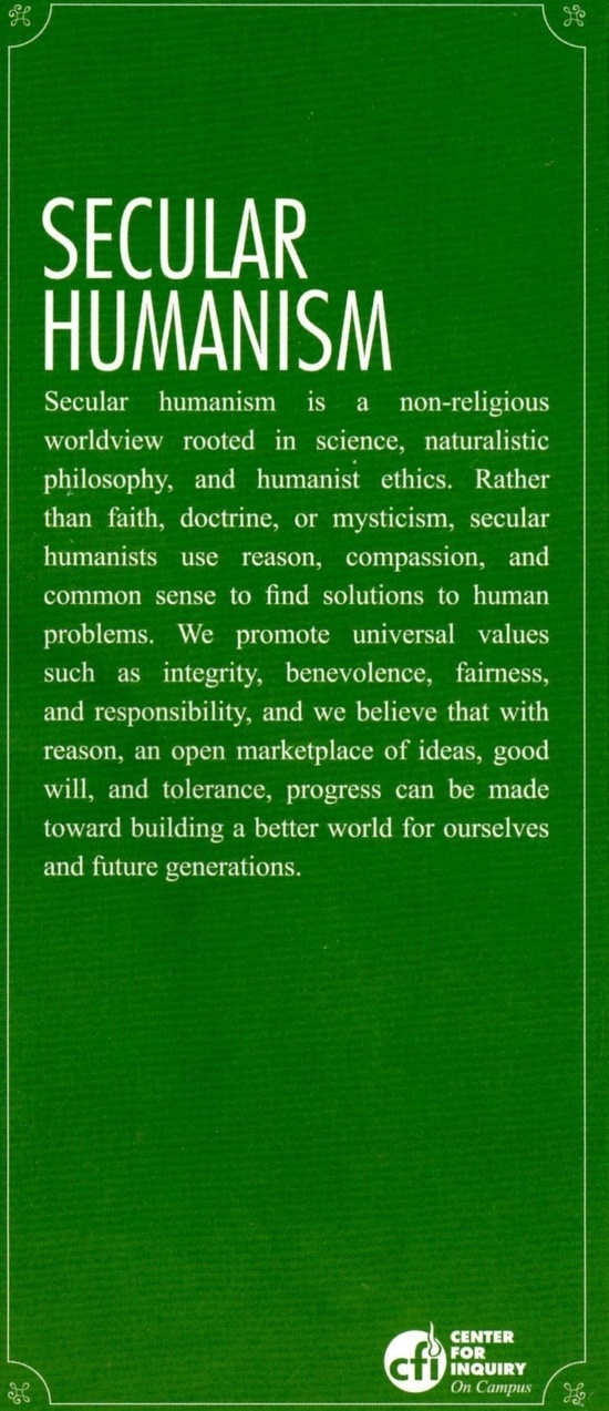 what is secular humanism pdf