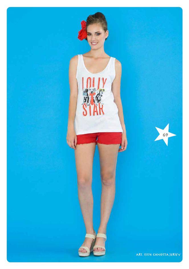#Canottiera Jersey #LollyStar - Scopri tutta la collezione #SpringSummer qui --> http://www.lollystar.it/