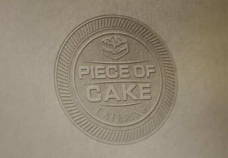 Piece of Cake Catering Logo - www.chicdesign.co.nz