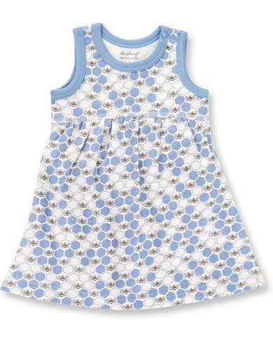 Cornflower Blue Bees Dress