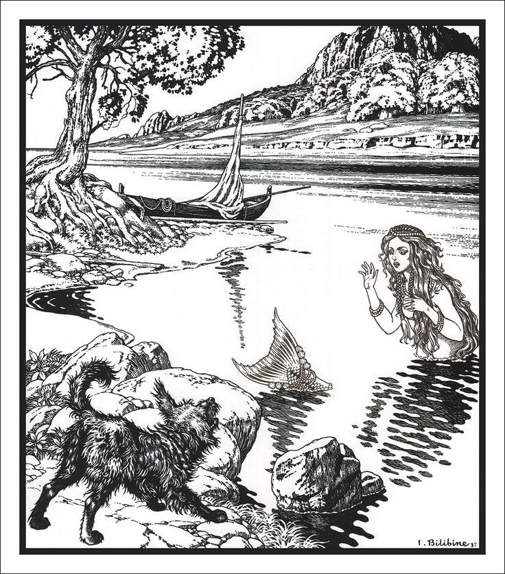 Mermaid ~ I. Bilibine 1937**