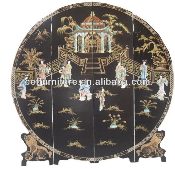 Mother Of Pearl Inlay Wooden Mini Folding Screen Asian: 246 Best Images About Folding Screens And Room Dividers On