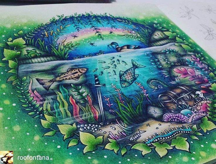 @Regrann from @roofontana -  Desenho finalizado! Lago - Floresta Encantada…