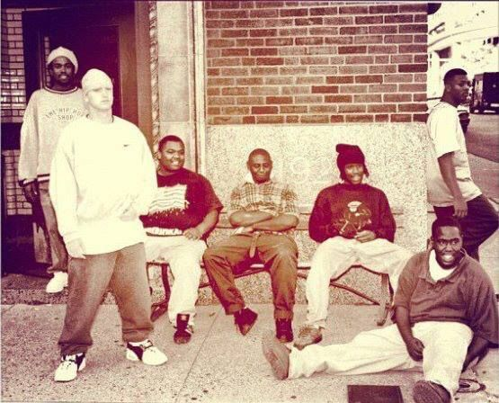 Eminem with his rap group D12 – 1990's | 20 Rare And Historic Pictures Of Famous People | Popular People in History.