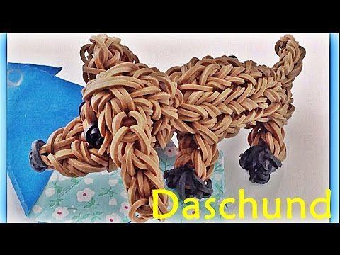 How to Make Loom Bands Dog Dachshund Charm Rainbow Loom Animal Charms - YouTube