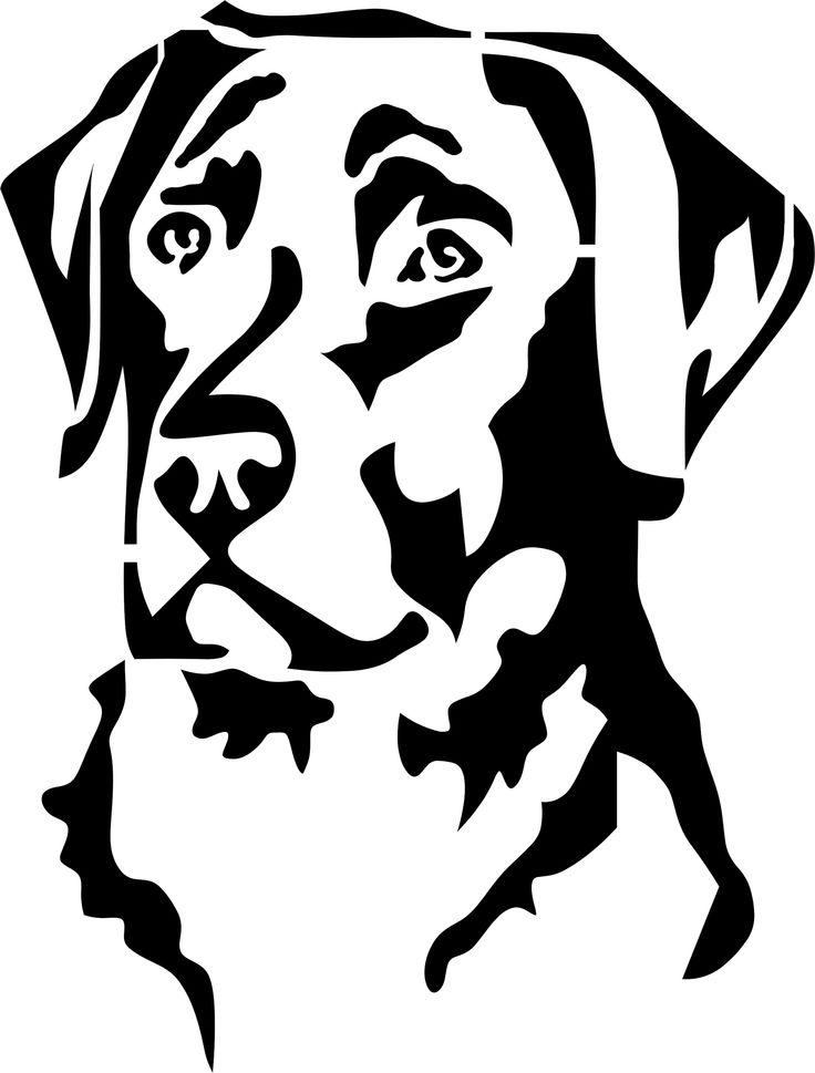 Eigenmarke Stencil Schablone Labrador