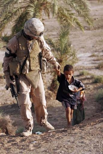 Even tho they are there to protect us they have a heart for these kids...God Bless them...