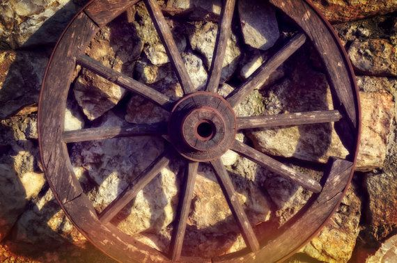 Old West Wagon Wheel Photography Rustic Fine Art by flyingbike