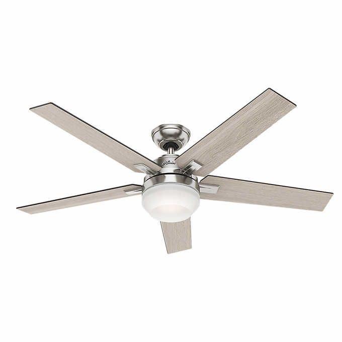 Hunter Apex Led Reversible Blade Ceiling Fan In 2020 Ceiling Fan Silver Ceiling Fan Brushed Nickel Ceiling Fan
