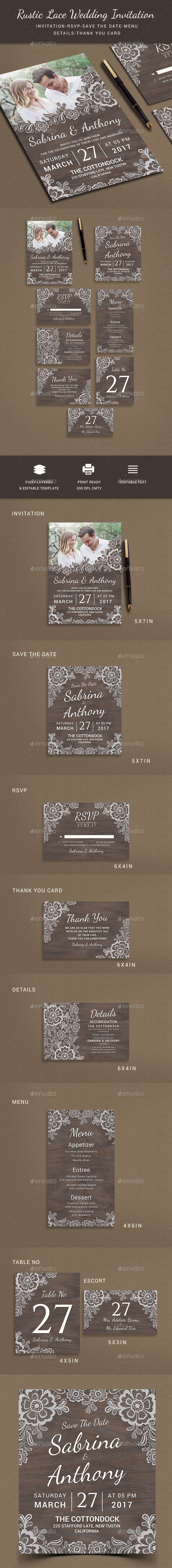 Wedding Invitation - Weddings Cards & Invites Download here: https://graphicriver.net/item/wedding-invitation/19495333?ref=classicdesignp