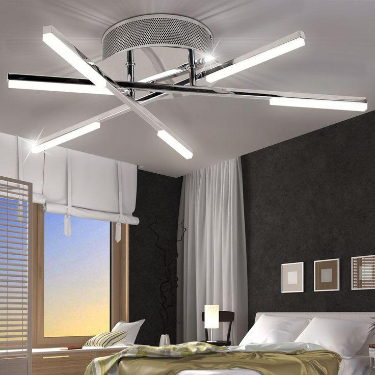 LED Decken Leuchte Wohn Zimmer Beleuchtung Chrom Lampe Spot Strahler EEK A WOFI