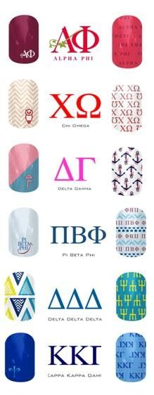 Sorority Jamberry Nail Wraps Order here: http://pretty4me.jamberrynails.net/ Like my FB page: https://m.facebook.com/pretty4me.jamberrynails #SororityNails #JamberryNails