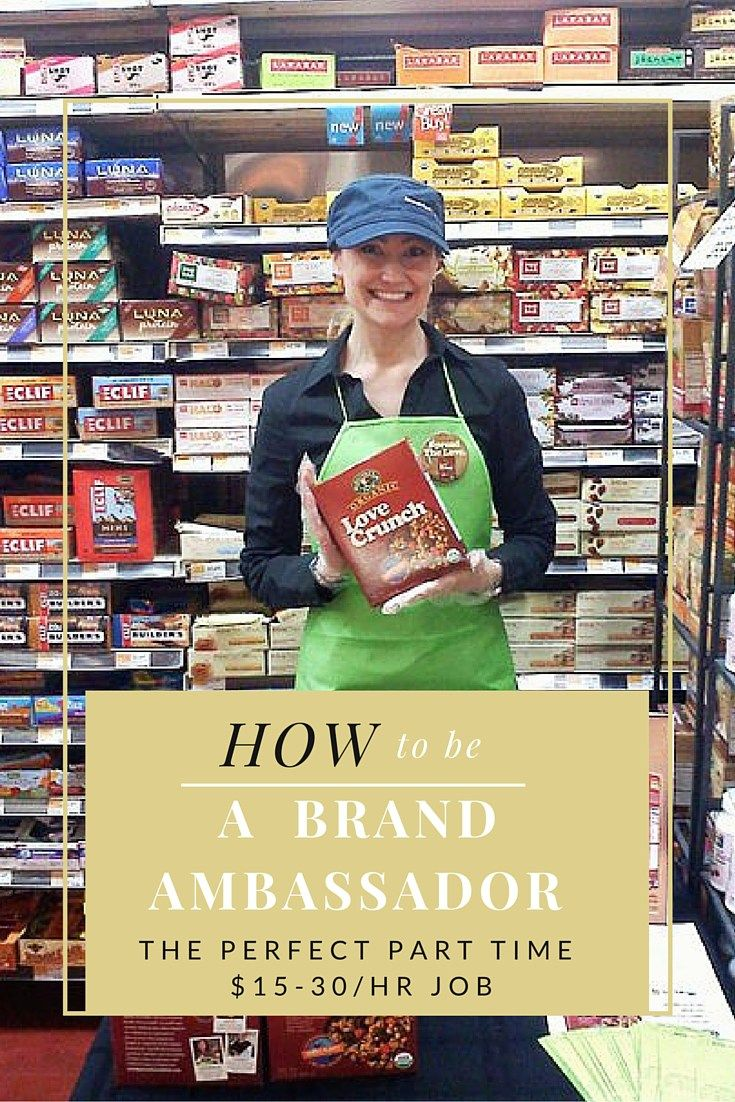 How to be a brand ambassador #parttimework #job #flexiblejob