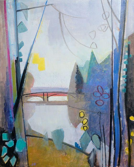"""Gallery Henoch - John Evans, String Trio, 30"""" x 24"""""""