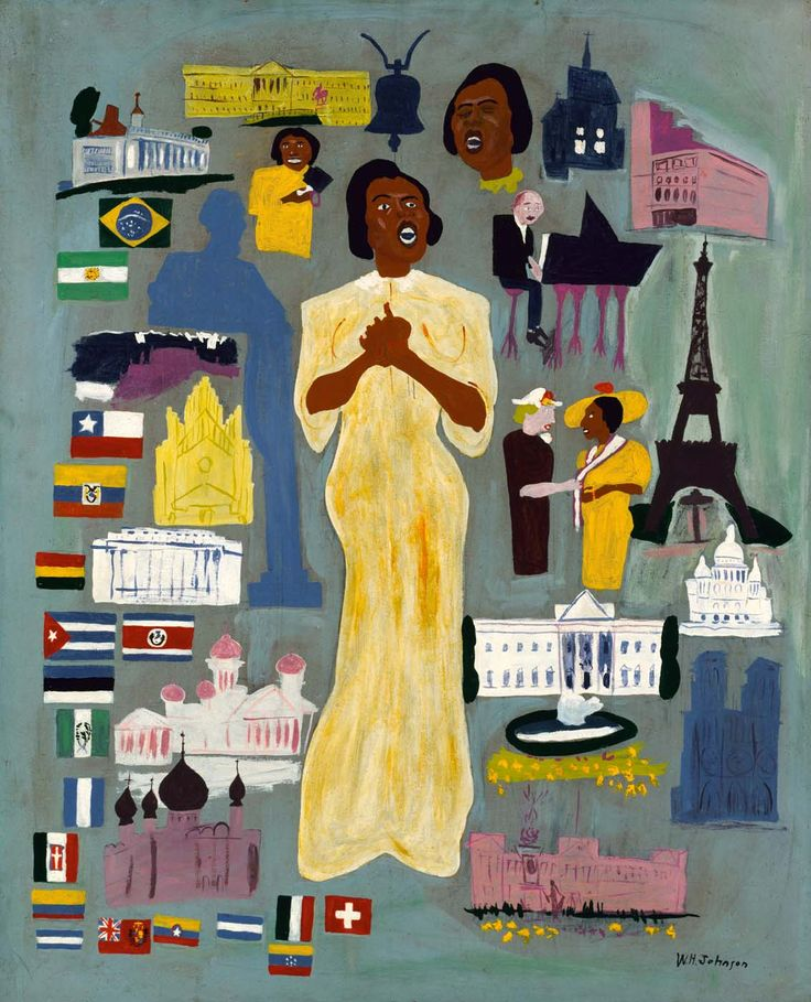 william h johnson marian anderson ca 1945 oil on