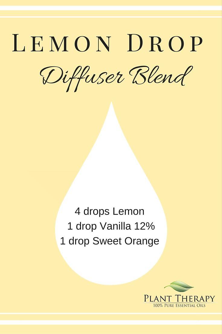 A fresh, lemon drop diffuser recipe. So fresh and uplifting!