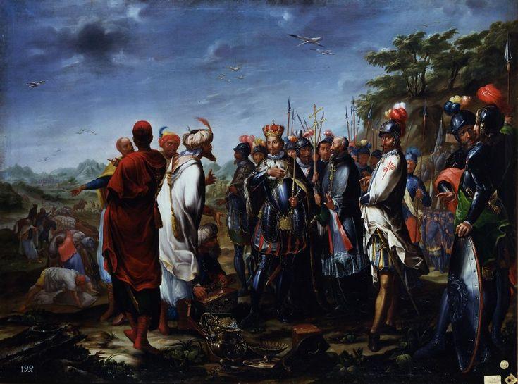 El rey Fernando III el Santo recibe en Sierra Morena a los embajadores de Mahomad, rey de Baeza,