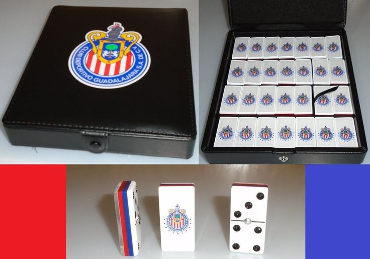 New Chivas de Guadalajara Dominoes Game Set,Double Six, Domino With Leather Case #Chivas #ChivasRayadas #Guadalajara #RebañoSagrado #DominoChivas #Dominoe #ChivasDeGuadalajara #Domino