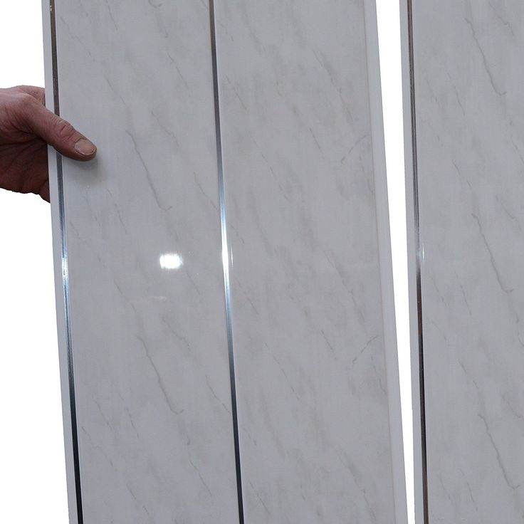 Bathroom Wall Panels Light Grey Marble With Chrome Perfect