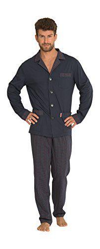 Hommes Classique Sommeil Et Les Vetements De Salon Manches Longues Bouton Chemise Et Pantalon Ensemble Pyjamas En Coton #Hommes #Classique #Sommeil #Vetements #Salon #Manches #Longues #Bouton #Chemise #Pantalon #Ensemble #Pyjamas #Coton