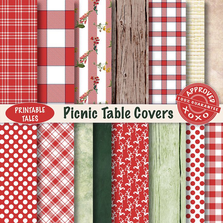 Scrapbook Pages Picnic Table Covers digital papers -  Plaids Wood Wicker Check Field Flowers Polka Dots - UNLIMITED Commercial use! door PrintableTales op Etsy https://www.etsy.com/nl/listing/269114298/scrapbook-pages-picnic-table-covers