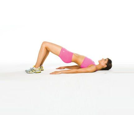 Your cheeks hang down and merge with the top of your hamstrings.