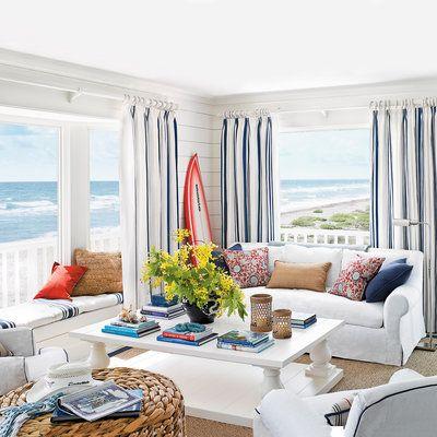 lovely beach house living room | 362 best Lovely Living Rooms images on Pinterest | Guest ...